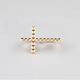 FULL TILT Studded Cross Two Finger Ring