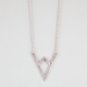 FULL TILT V Triangle Pendant Necklace
