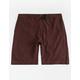 NITROUS BLACK Format Burgundy Mens Hybrid Shorts