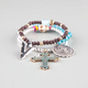 FULL TILT 3 Piece Patina Cross Bracelet