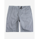 BLUE CROWN Classic Charcoal Mens Chino Shorts