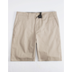 BLUE CROWN Classic Khaki Mens Chino Shorts