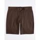 BRIXTON Toil II Brown Mens Chino Shorts