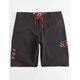 FOX Overhead Black & Red Mens Boardshorts