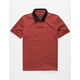BRIXTON Carlos Red Mens Polo Shirt