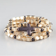 FULL TILT 3 Piece Cross Square Bead Bracelets
