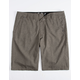 FOX Essex Tech Dark Khaki Mens Hybrid Shorts