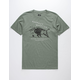 HIPPYTREE Respect Heather Olive Mens T-Shirt