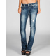 ALMOST FAMOUS Womens Skinny Bootcut Jeans