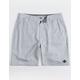 RIP CURL Gateway Boardwalk Gray Mens Hybrid Shorts
