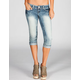 ALMOST FAMOUS Womens Cuffed Denim Capris