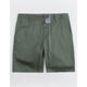 BLUE CROWN Slim Sage Mens Chino Shorts