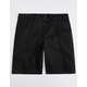 BLUE CROWN Classic Black Mens Chino Shorts
