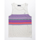 LOST Cottonwood Ivory Mens Tank Top