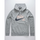 NIKE SB Washed Dark Gray Mens Hoodie