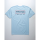 BRIXTON Wedge Light Blue Mens T-Shirt