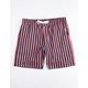UNCLE RALPH Twill Stripe Navy Mens Shorts