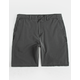 VALOR Pigment Dyed Charcoal Mens Hybrid Shorts