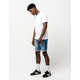 RSQ London Skinny Roll Cuff Mens Denim Shorts