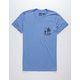 HIPPYTREE Nomad Heather Blue Mens T-Shirt