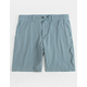 VALOR Pigment Dyed Slate Blue Mens Hybrid Shorts