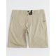 NITROUS BLACK Format Light Tan Mens Hybrid Shorts