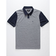 BRIXTON Carlos Gray & Navy Mens Polo Shirt