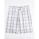 DICKIES Plaid Gray & White Mens Shorts