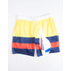 UNCLE RALPH Nautical Stripe Mens Volley Shorts