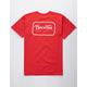 BRIXTON Grade Red Mens T-Shirt