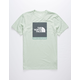THE NORTH FACE Box Out Tri-Blend Light Green Mens T-Shirt