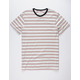 BIRCH BLACK Rail Stripe Mens T-Shirt