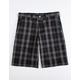 DICKIES Plaid Black & Gray Mens Shorts