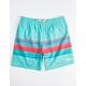 PUBLIC ACCESS Dawn Stripe Aqua Mens Volley Shorts