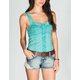 FULL TILT Washed Tie Dye Womens Corset Top