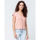 COCO & JAIMESON Knit Blush Womens Top