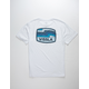 VISSLA Wave Badge White Mens T-Shirt