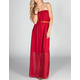 FULL TILT Belted Maxi Tube Dress