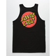 SANTA CRUZ Classic Dot Black Mens Tank Top