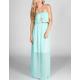 FULL TILT Belted Maxi Tube Dress