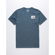 THE NORTH FACE Novelty Tri-Blend Navy Mens T-Shirt