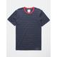 BIRCH BLACK  Pin Stripe Mens T-Shirt