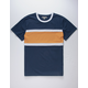 CHARLES AND A HALF Chest Stripe Mens T-Shirt