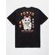 RIOT SOCIETY Skeleton Lucky Cat Mens T-Shirt