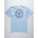 BRIXTON Oath Light Blue Mens T-Shirt