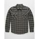 BRIXTON Bowery Black & Gray Mens Flannel Shirt