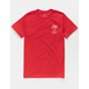 RIP CURL Carve Red Mens T-Shirt