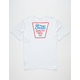 BRIXTON Portero White Mens T-Shirt