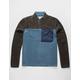 VSTR Color Block Blue & Gray Mens Polar Fleece Jacket