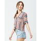 COCO & JAIMESON Stripe Womens Shirt